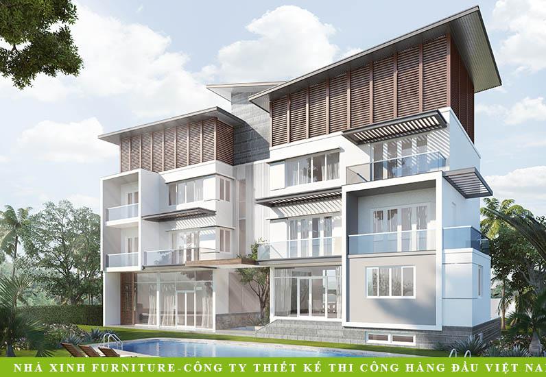 Biệt Thự Hiện Đại Đẹp Lung Linh | Anh Tiến | BT-027