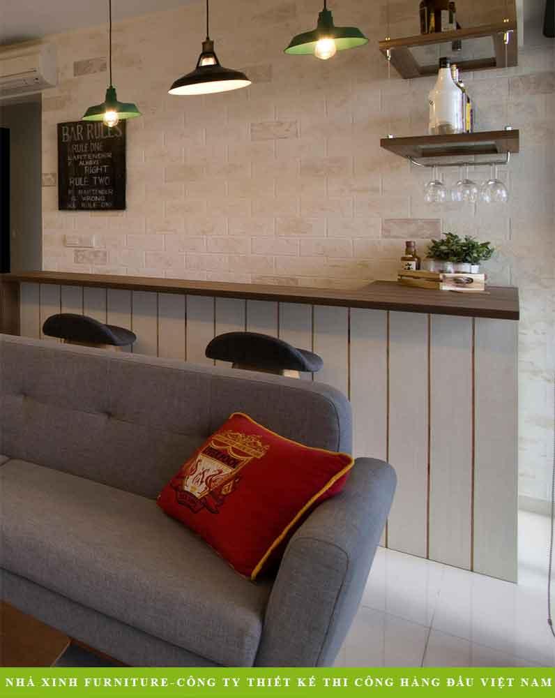 Mẫu Thiết Kế Nội thất Sofa Nỉ Phòng Khách | NT-011