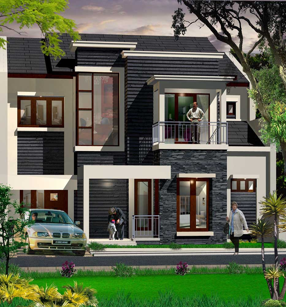 high end black white exterior design of the facade architecture modern tropis that seems so and elegant inside it has mini minimalist house design building house design home inside plan