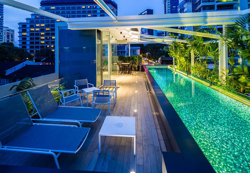 Biệt Thự Phố Hiện Đại Có Hồ Bơi Sân Thượng | BT-036