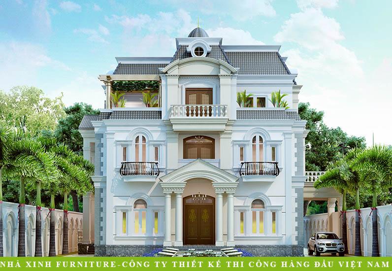 Mẫu Thiết Kế Biệt Thự Tân Cổ Điển | Anh Hòa | BT-025